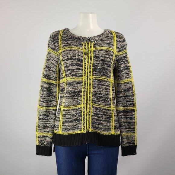 Dex Black & Yellow Knit Jacket Size S